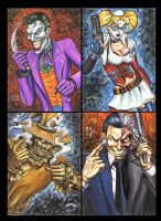 Batman Rogues Gallery Sketch Cards by AHochrein2010