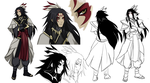 Altair character design studies by FireEagleSpirit