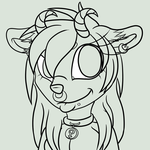 Bust Lineart example by xXEndlessDaydreamsXx