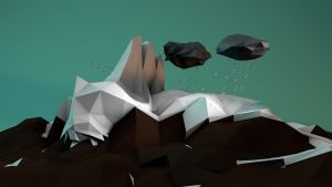 Low Poly Mountainscape by cytherina