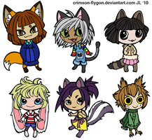 Animal Chibis by pookat