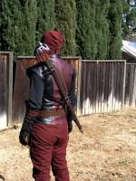 SteamPunk Deadpool Back by TreeVor