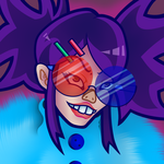Noodle with sick glasses by PatchVVork