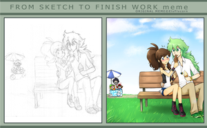 From sketch to finish meme by firehorse6