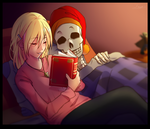 [Commission] Bedtime Stories (+Speedpaint) by frazie202