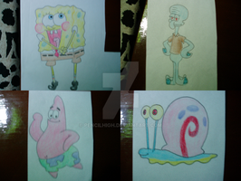 Requests: Spongebob charas by EnzanBlues456