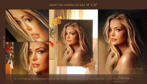 Denise Richards Printed On Canvas 18x24 by Amro0