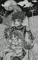 Edward Scissorhands and Emily Corpse Bride by Izatora