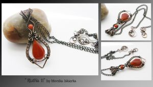 Rutha II- wire wrapped pendant by mea00