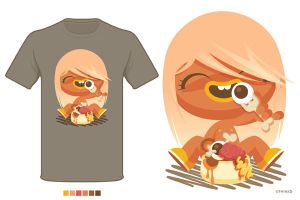 T-Shirt_eat me please by thinkd
