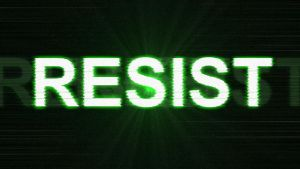 RESIST Desktop Wallpaper (Glow) by SH9DOW