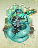 Miku Take the Keyboard by steevinlove