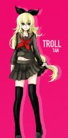 Troll-tan by paxiti