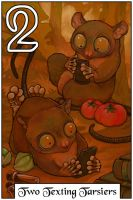 Two Texting Tarsiers by ursulav