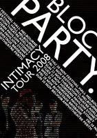 Bloc Party Poster 1. by AlternateRaiL