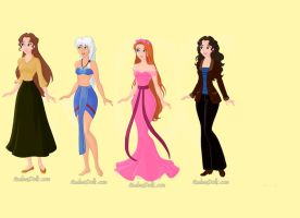 Disney Princesses: Part 4 by butterflycystal