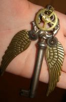 Steampunk Winged Key by PunkTrunk