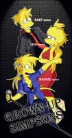 Grown Up Simpsons (Bart, Lisa, Maggie) by Matsuri1128