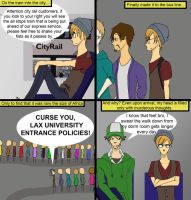 Commuters vs. On Campus housers by Cartoon-punk