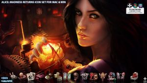 Alice: Madness Returns icon Set by OmriKoresh