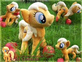 Apple Cobbler Plush Pony - with Apples! :D by SakuSay