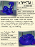 Pokeberry Experiment File - Ninetales - Krystal by Tails230
