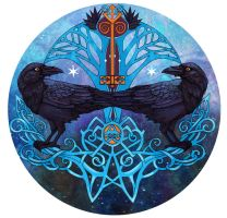 Hugin and Munin by yanadhyana
