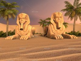 Egypt Sphinx by Trisste-stocks