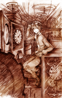 Steampunk Watchmaker by Rintaraz