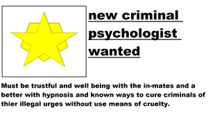 Interpol criminal psychologist help wanted add by trexking45