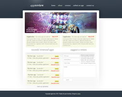 'AppReview' website design by jackinnes