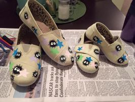 Custom Painted Soot Sprite Shoes by Glingal