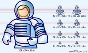 Astronaut Icon by science-icons