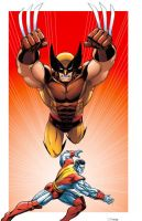 Wolverine fastball special by Dan-the-artguy