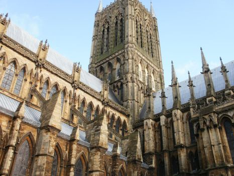 Lincoln Cathedral spire by HighShamanLythene