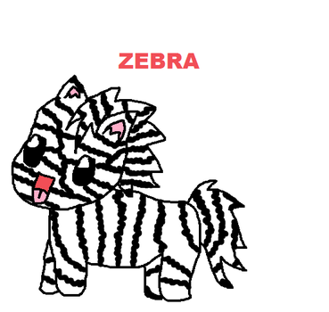 Zebra Adoptable by boonfish