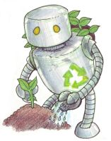 Recycle Bot by lilith-darkmoon