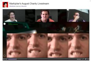 Markiplier Livestream Wade Face Spam xD by kyuubineko95