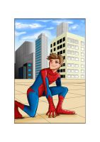 Spider-Man - Rooftop Rest by KingPuddinArt