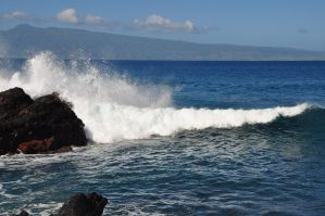 Hawaii Waves 1 by Spiteful-Pie-Stock
