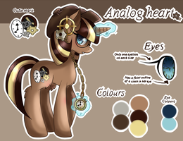 New Oc Ref: Analog Heart by Sketchi-Panda