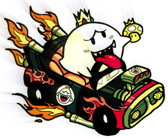 King Boo is hittin' the road. by FRUiTY-DiNO
