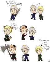 Hetalia Chibis by Fullmetalpoz