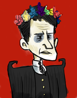 Flower Crowned Maxwell by LuckyGreen7