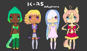 Adoptables Batch 2 -CLOSED- by rainbowstar-chan