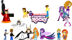 Equestria Girls Rainbow Rocks Teaser Poster by Dragonfire92379