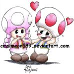 Toad and Toadette by cmdixon589
