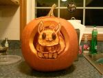 Eevee Pumpkin (light ver) by Marioman-64
