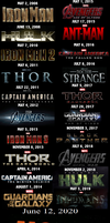 Joke 18 Marvel Cinematic universe line up by TheDoctorWriter