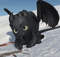 Toothless being soooooooo Cute! by reaper-man170203